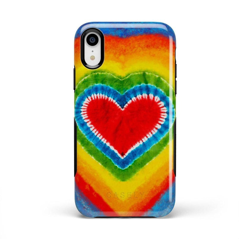 I Heart Tie Dye iPhone Case iPhone Case Get.Casely Bold iPhone XR