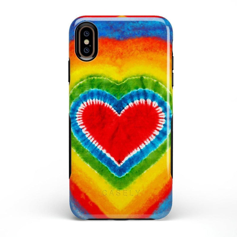 I Heart Tie Dye iPhone Case iPhone Case Get.Casely Bold iPhone XS Max