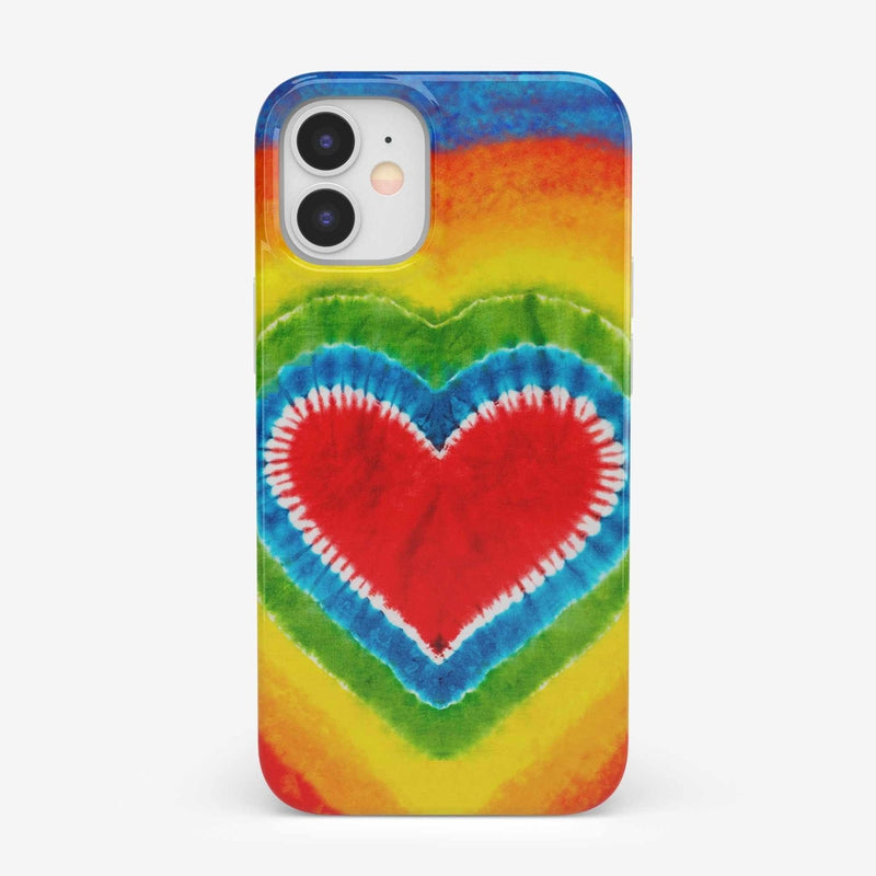 I Heart Tie Dye iPhone Case iPhone Case get.casely Classic iPhone 12 Mini