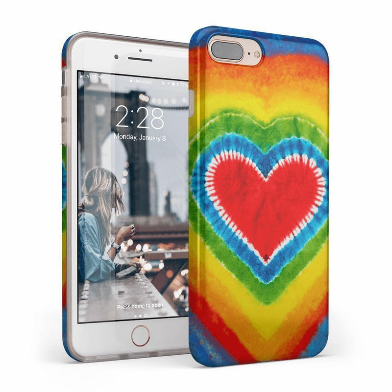 I Heart Tie Dye iPhone Case iPhone Case get.casely Classic iPhone 8 Plus