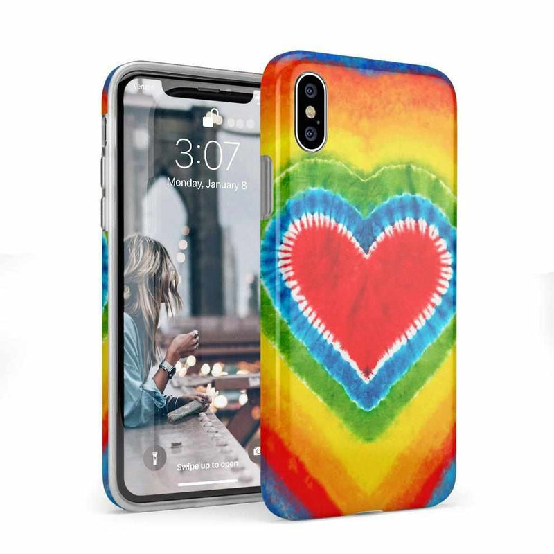 I Heart Tie Dye iPhone Case iPhone Case Get.Casely Classic iPhone X / XS