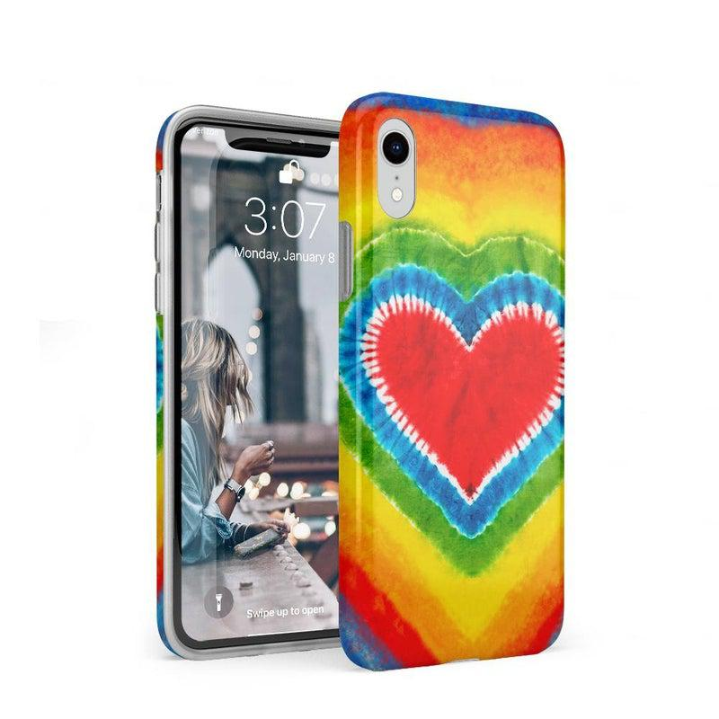 I Heart Tie Dye iPhone Case iPhone Case Get.Casely Classic iPhone XR