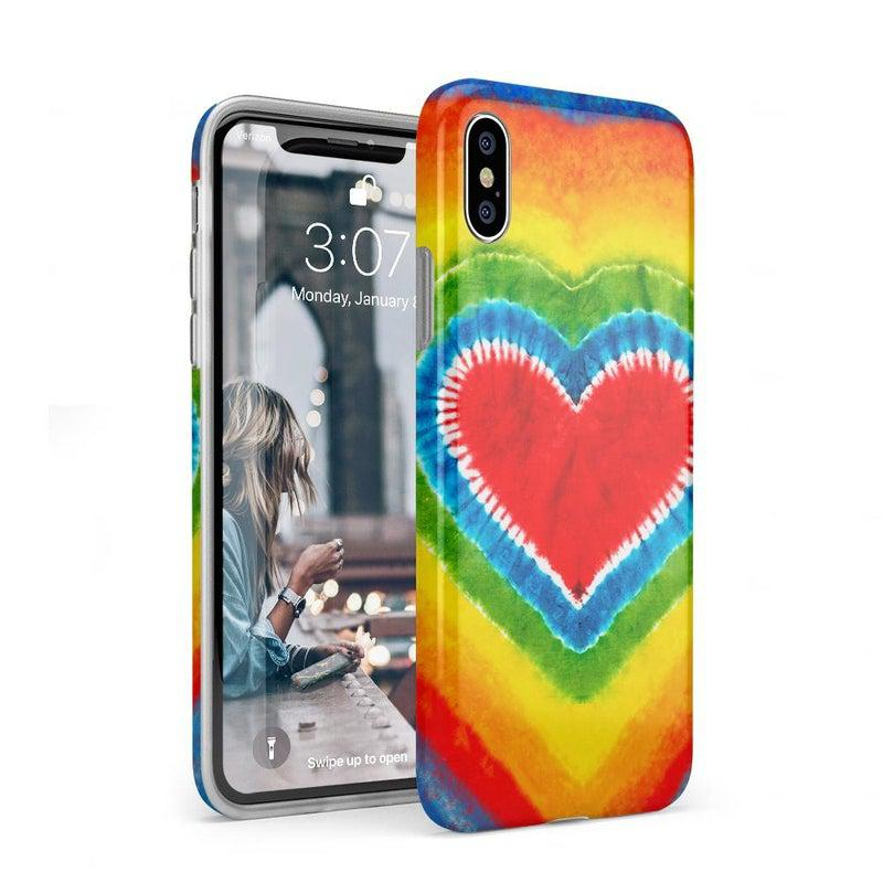 I Heart Tie Dye iPhone Case iPhone Case Get.Casely Classic iPhone XS Max
