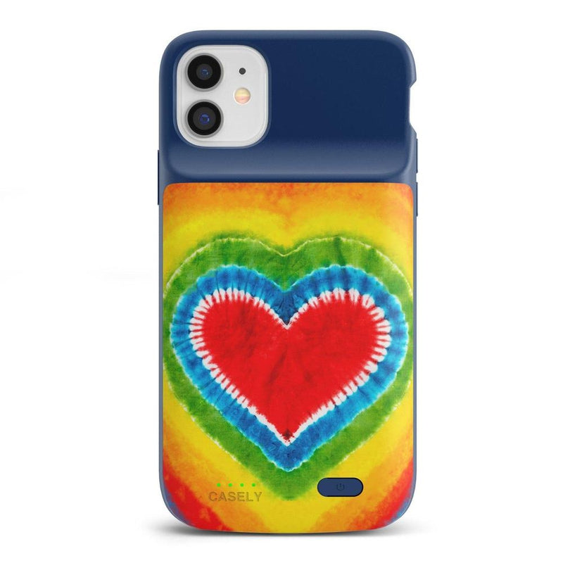 I Heart Tie Dye iPhone Case iPhone Case get.casely Power 2.0 iPhone 11