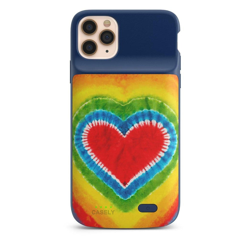 I Heart Tie Dye iPhone Case iPhone Case get.casely Power 2.0 iPhone 11 Pro Max