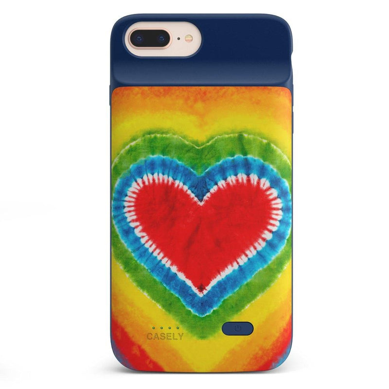 I Heart Tie Dye iPhone Case iPhone Case get.casely Power 2.0 iPhone 8 Plus