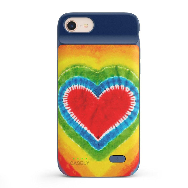 I Heart Tie Dye iPhone Case iPhone Case get.casely Power 2.0 iPhone SE (2020)