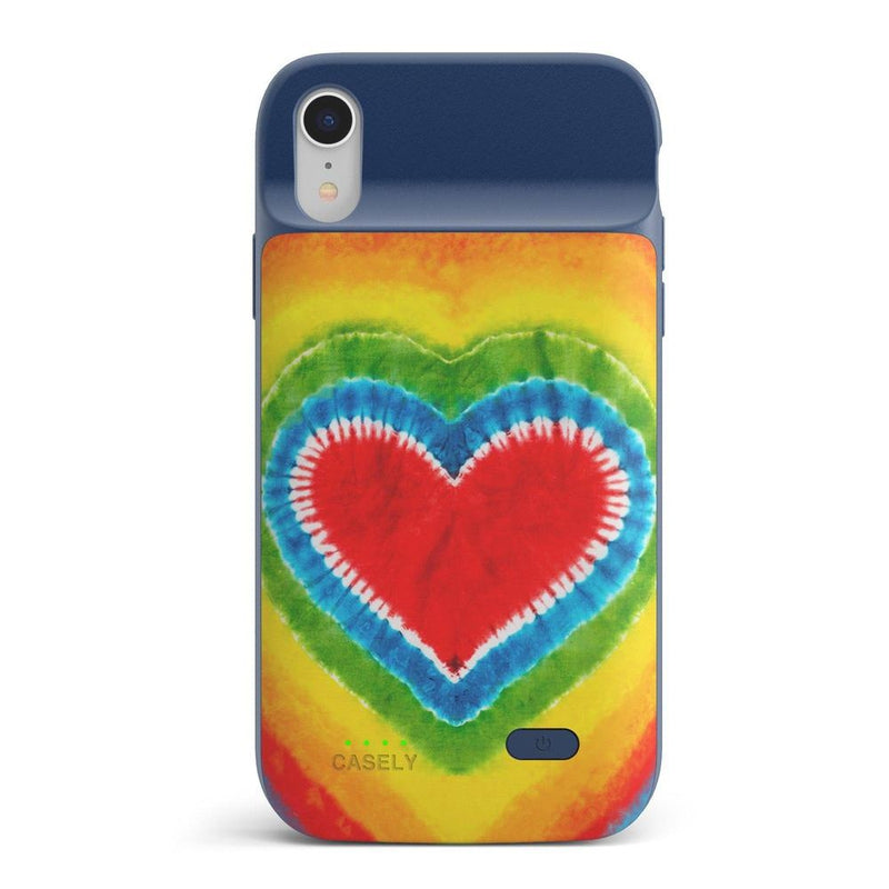 I Heart Tie Dye iPhone Case iPhone Case get.casely Power 2.0 iPhone XR