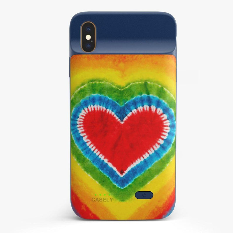 I Heart Tie Dye iPhone Case iPhone Case get.casely Power 2.0 iPhone XS Max