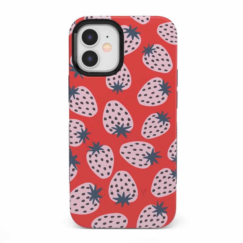 I'd Pick You | Red Strawberry Case iPhone Case get.casely Bold iPhone 12 Mini