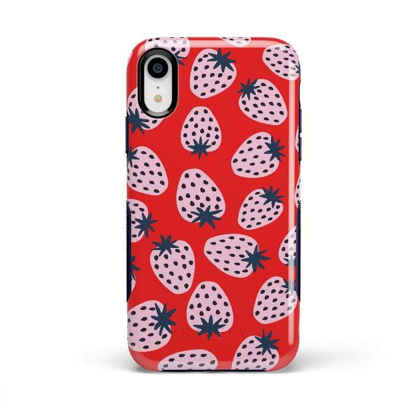 I'd Pick You | Red Strawberry Case iPhone Case get.casely Bold iPhone XR