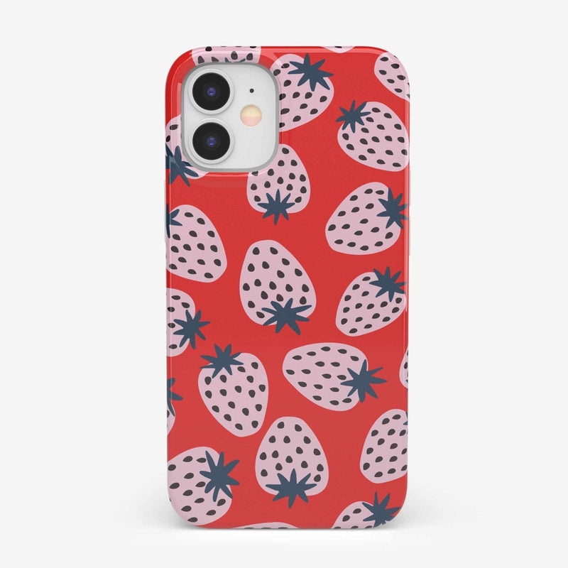 I'd Pick You | Red Strawberry Case iPhone Case get.casely Classic iPhone 12 Mini