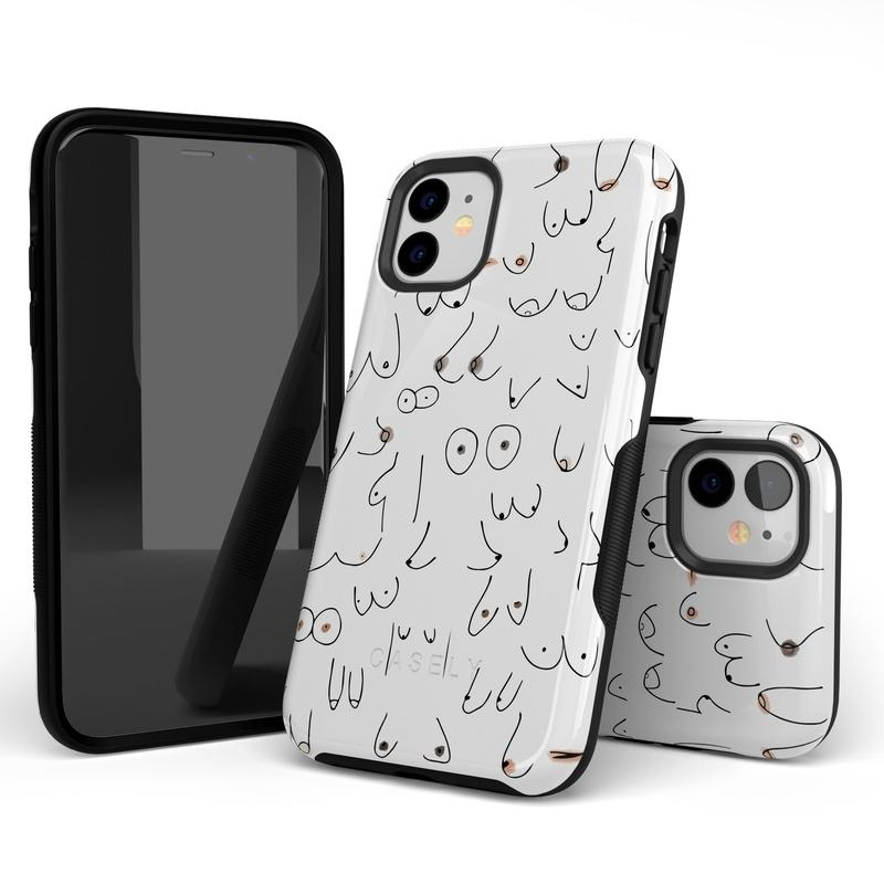 I'm With Her | Black & White Boobs Case iPhone Case get.casely