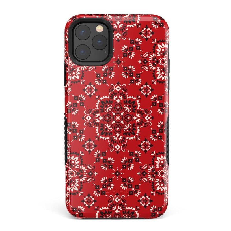 I'm with the Band | Red Bandana Print Case iPhone Case Get.Casely Bold iPhone 11 Pro Max
