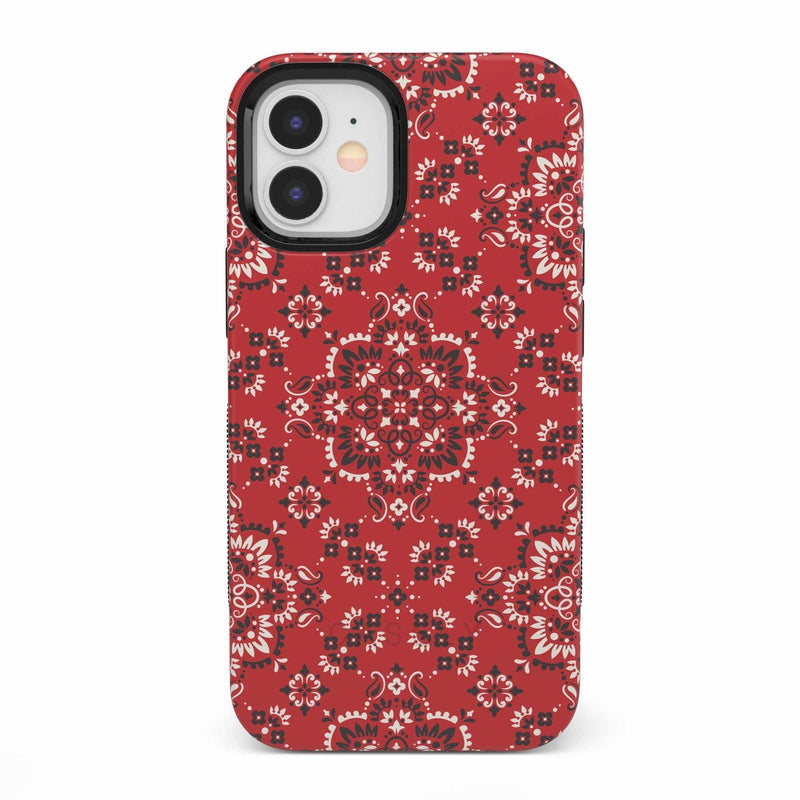 I'm with the Band | Red Bandana Print Case iPhone Case get.casely Bold iPhone 12 Mini