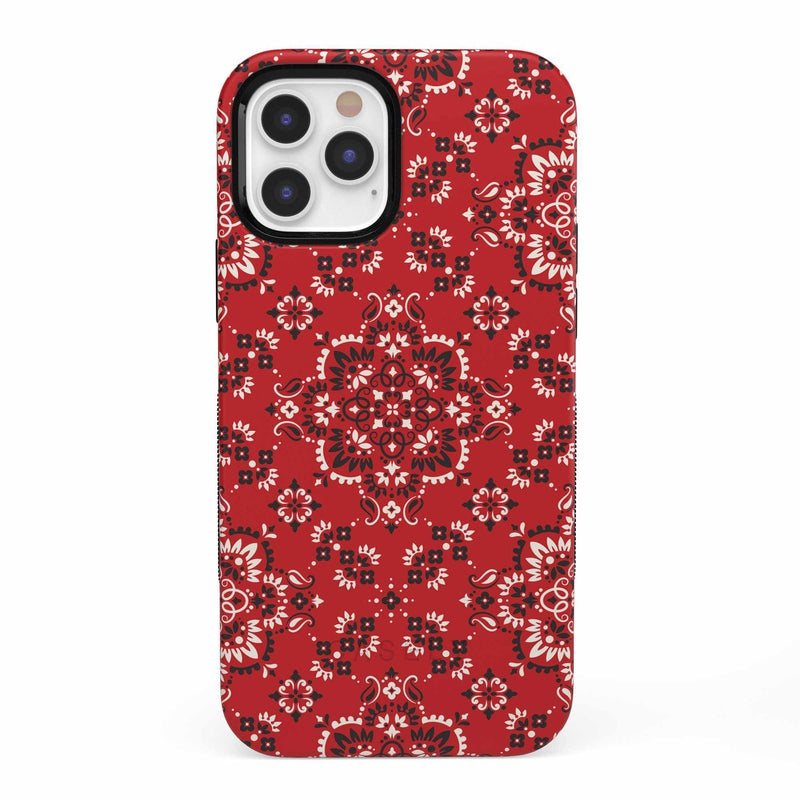 I'm with the Band | Red Bandana Print Case iPhone Case get.casely Bold iPhone 12 Pro