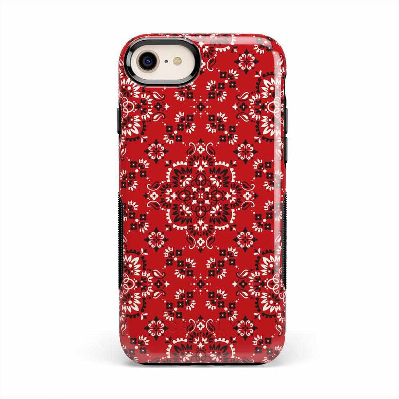 I'm with the Band | Red Bandana Print Case iPhone Case Get.Casely Bold iPhone 8