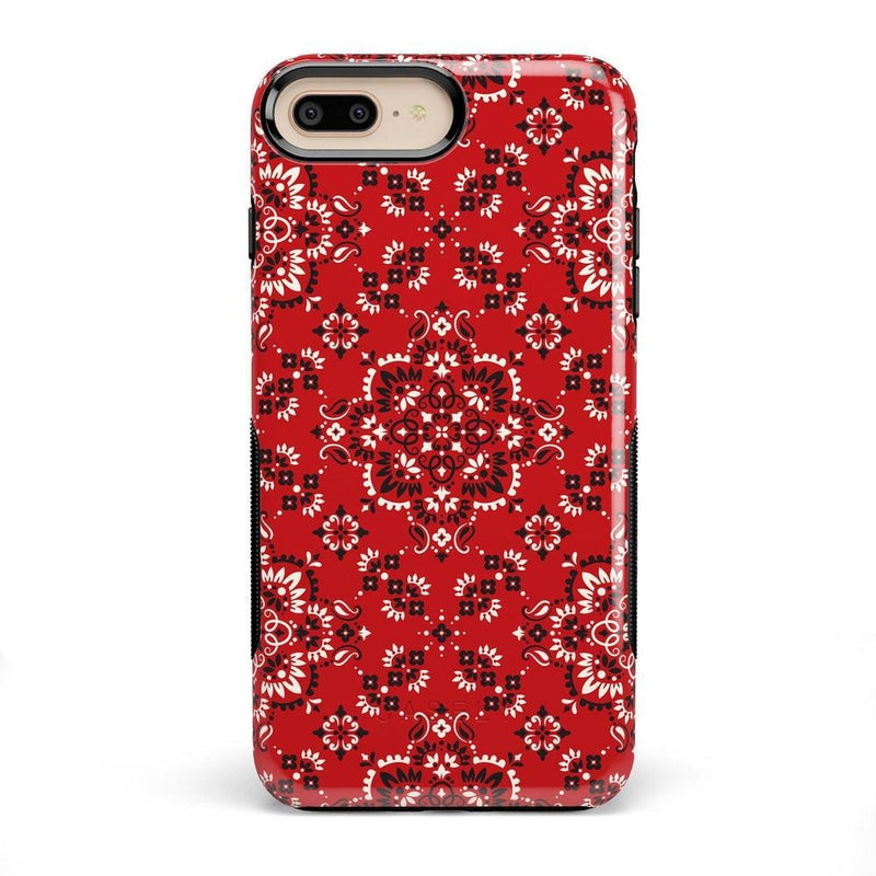 I'm with the Band | Red Bandana Print Case iPhone Case Get.Casely Bold iPhone 8 Plus