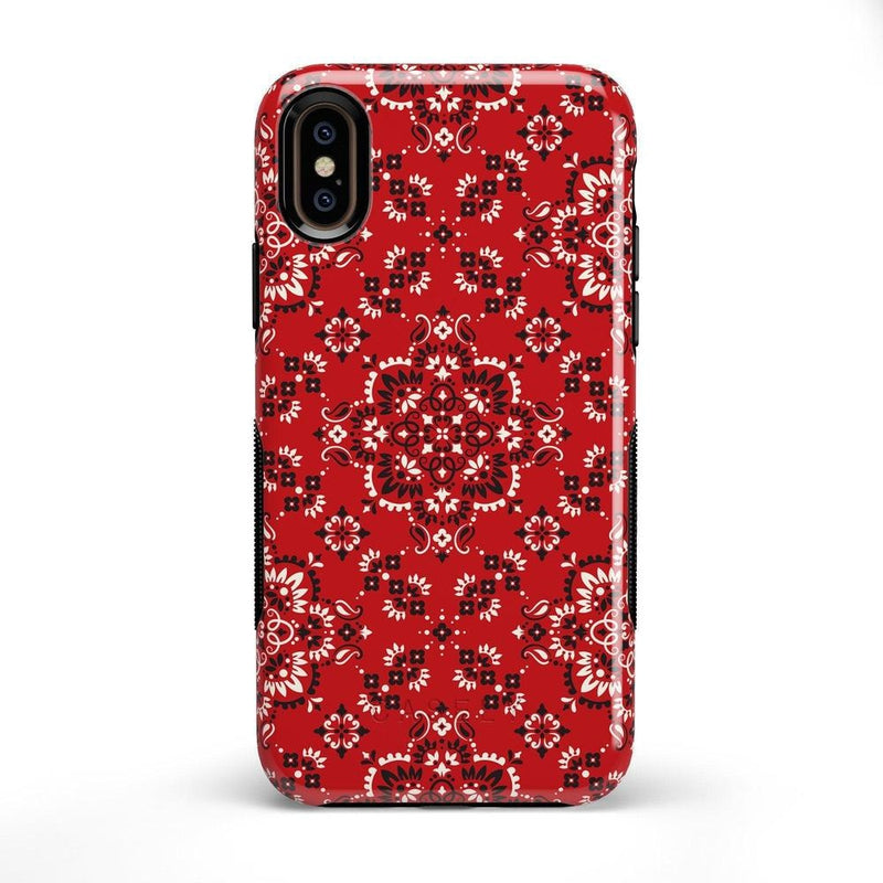 I'm with the Band | Red Bandana Print Case iPhone Case Get.Casely Bold iPhone X / XS