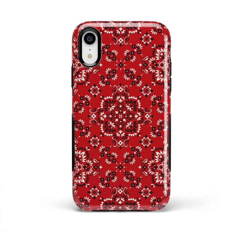 I'm with the Band | Red Bandana Print Case iPhone Case Get.Casely Bold iPhone XR