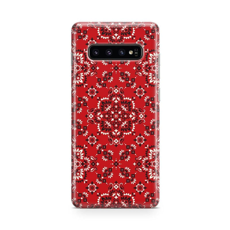 I'm with the Band | Red Bandana Print Case iPhone Case Get.Casely Classic Galaxy S10 Plus