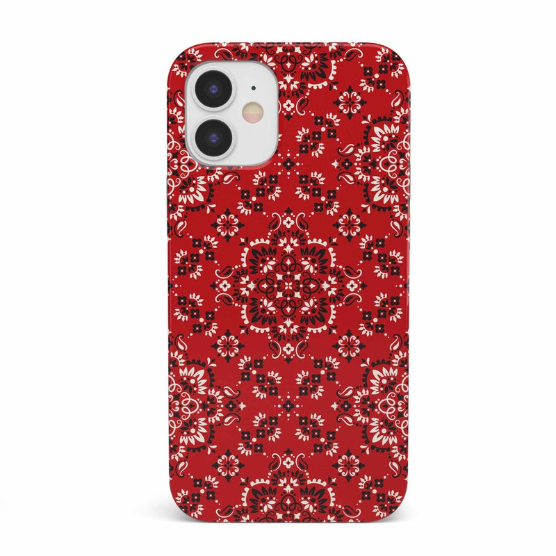 I'm with the Band | Red Bandana Print Case iPhone Case get.casely Classic iPhone 12 Mini