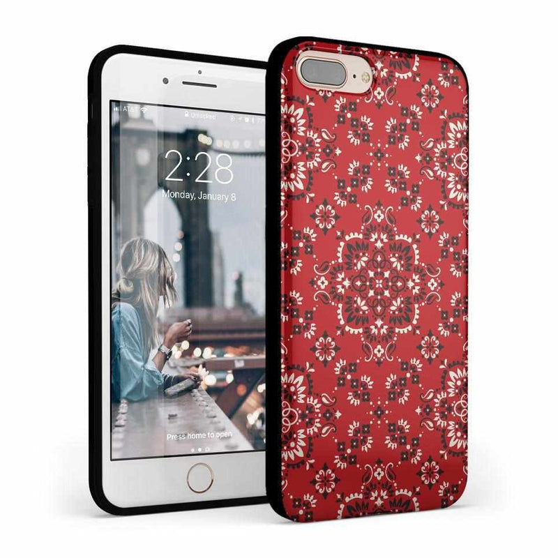 I'm with the Band | Red Bandana Print Case iPhone Case Get.Casely Classic iPhone 8 Plus