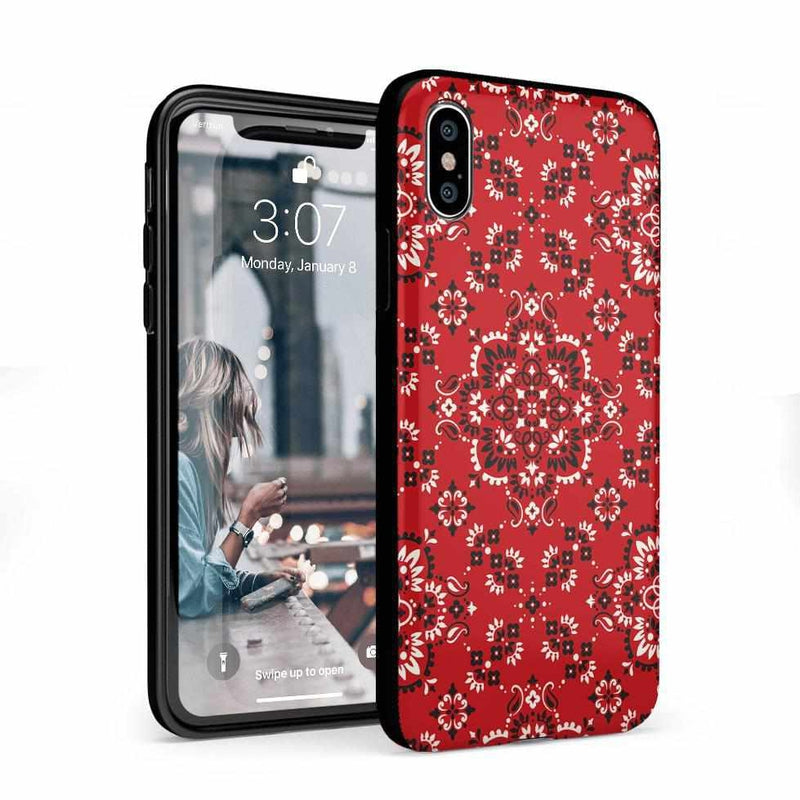 I'm with the Band | Red Bandana Print Case iPhone Case Get.Casely Classic iPhone X / XS