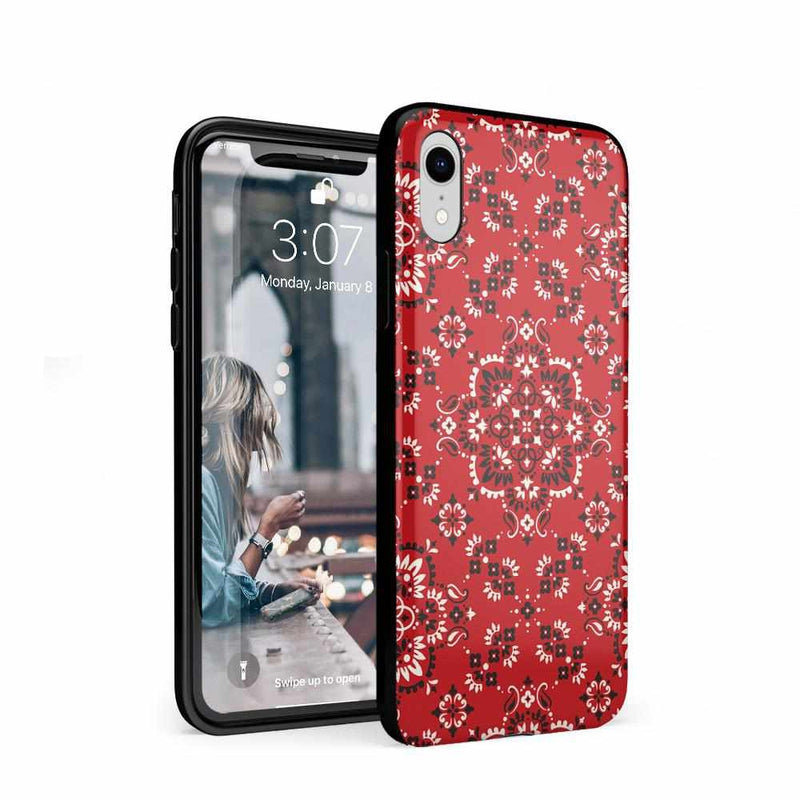I'm with the Band | Red Bandana Print Case iPhone Case Get.Casely Classic iPhone XR