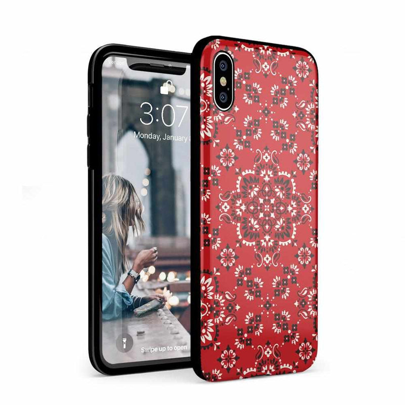 I'm with the Band | Red Bandana Print Case iPhone Case Get.Casely Classic iPhone XS Max