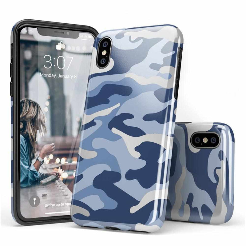 In Formation | Metallic Blue Camo Case iPhone Case Get.Casely