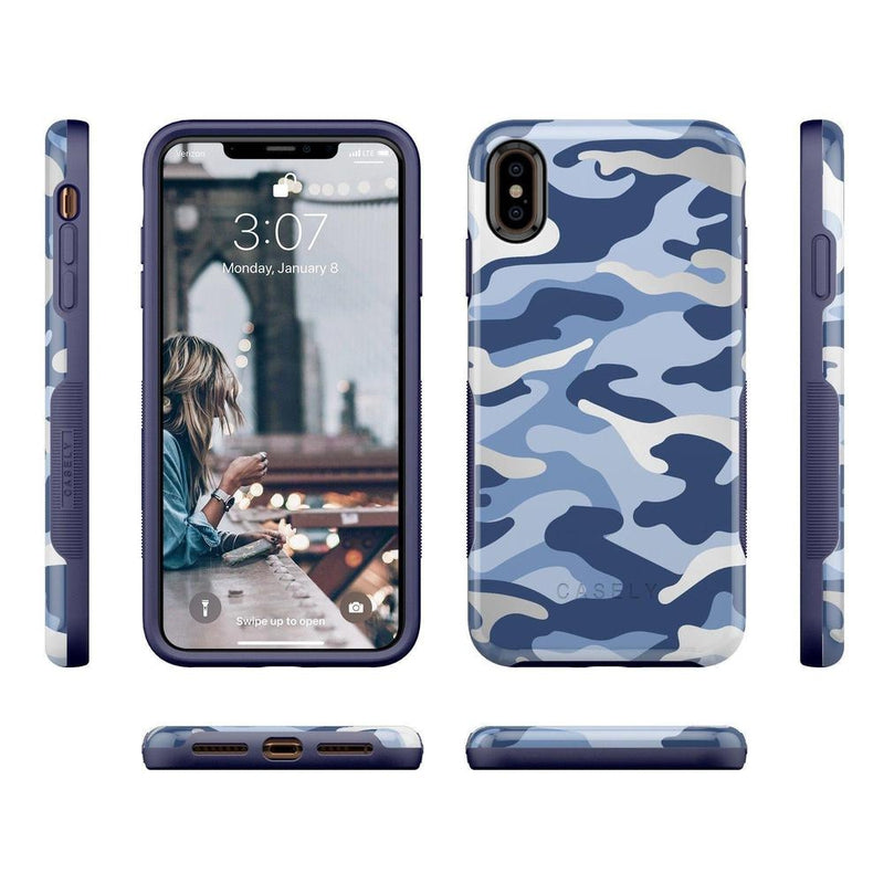 In Formation | Metallic Blue Camo Case iPhone Case CASELY
