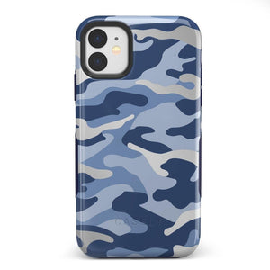 In Formation | Metallic Blue Camo Case iPhone Case Get.Casely Bold iPhone 11