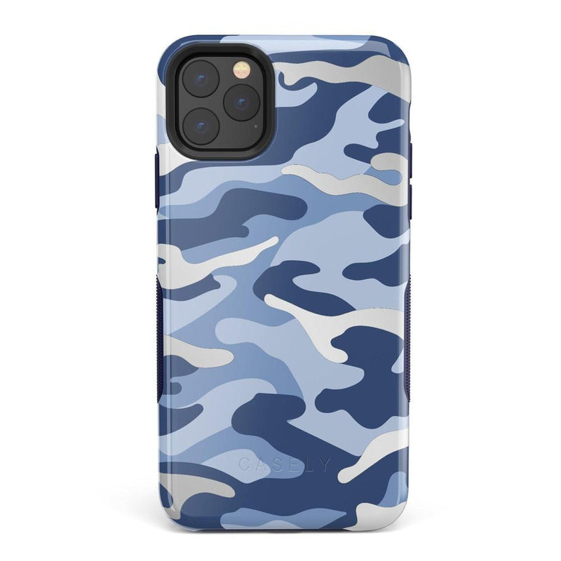 In Formation | Metallic Blue Camo Case iPhone Case Get.Casely Bold iPhone 11 Pro