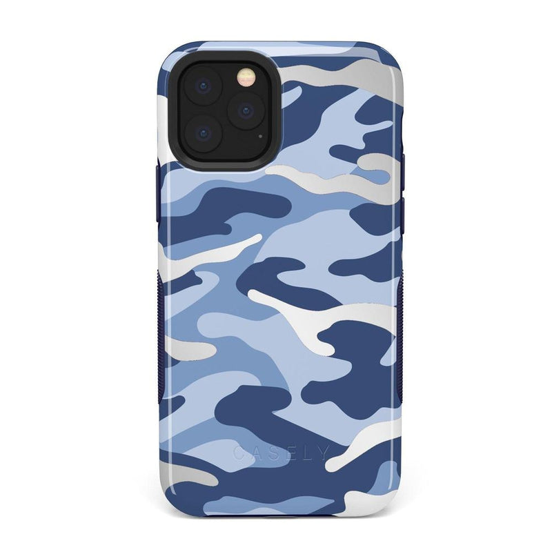 In Formation | Metallic Blue Camo Case iPhone Case Get.Casely Bold iPhone 11 Pro Max