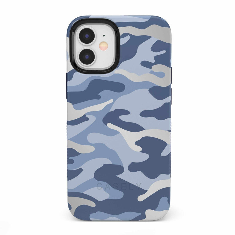 In Formation | Metallic Blue Camo Case iPhone Case get.casely Bold iPhone 12 Mini