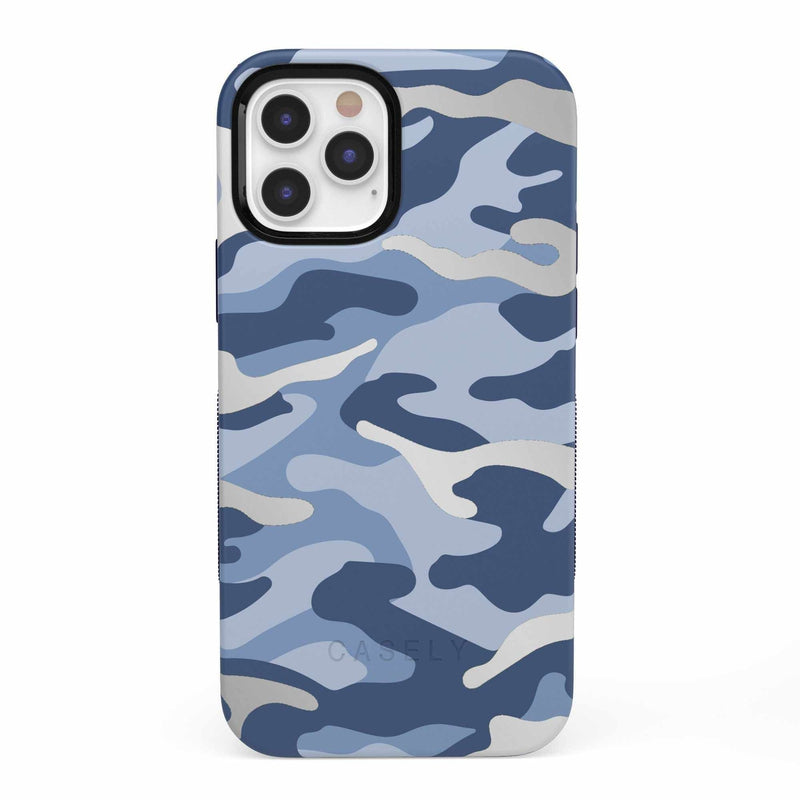 In Formation | Metallic Blue Camo Case iPhone Case get.casely Bold iPhone 12 Pro