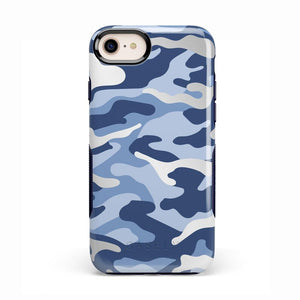 In Formation | Metallic Blue Camo Case iPhone Case CASELY Bold iPhone 8