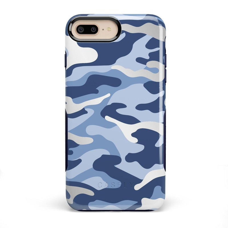 In Formation | Metallic Blue Camo Case iPhone Case CASELY Bold iPhone 8 Plus
