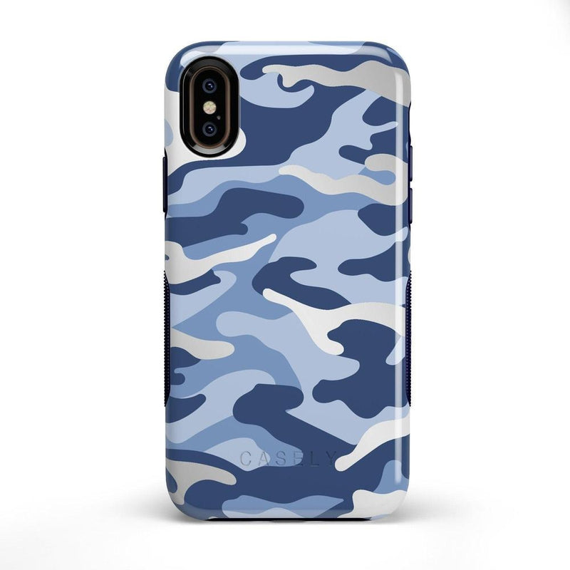 In Formation | Metallic Blue Camo Case iPhone Case CASELY Bold iPhone X / XS