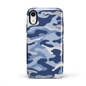 In Formation | Metallic Blue Camo Case iPhone Case CASELY Bold iPhone XR