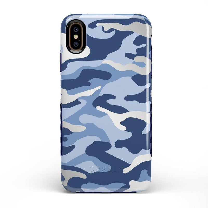 In Formation | Metallic Blue Camo Case iPhone Case CASELY Bold iPhone XS Max