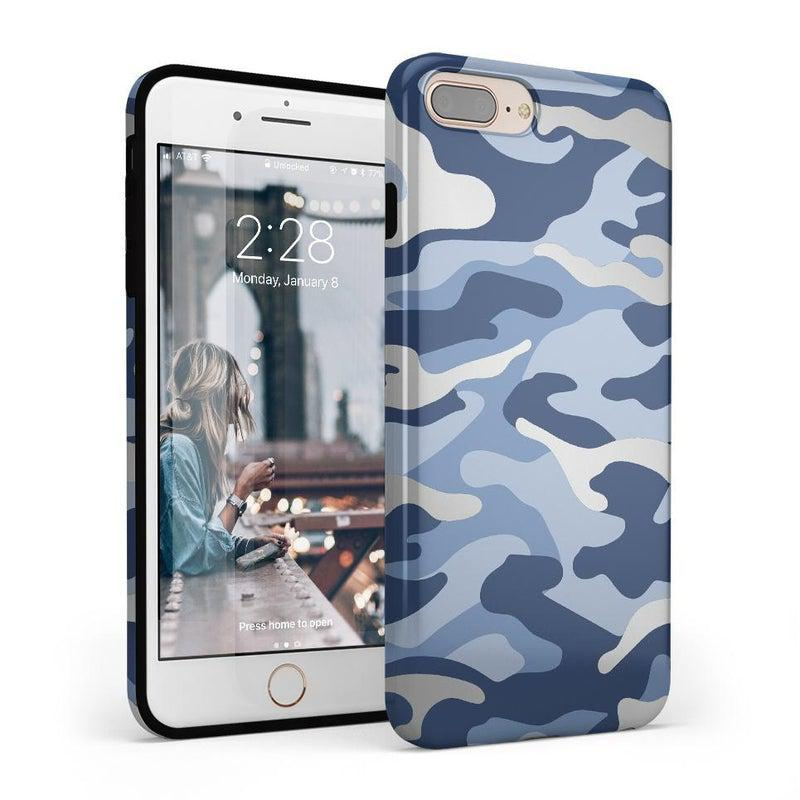 In Formation | Metallic Blue Camo Case iPhone Case Get.Casely Classic iPhone 6/6s Plus