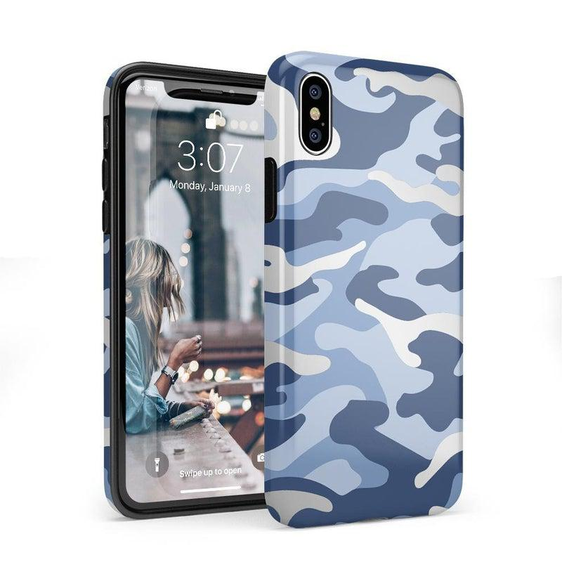 In Formation | Metallic Blue Camo Case iPhone Case Get.Casely Classic iPhone X / XS