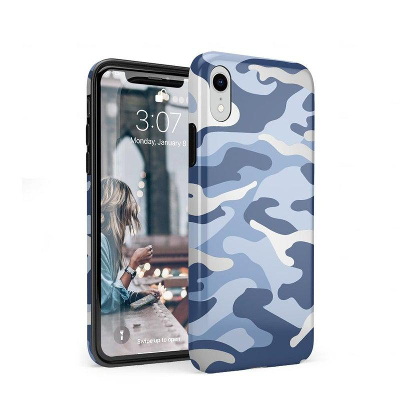 In Formation | Metallic Blue Camo Case iPhone Case Get.Casely Classic iPhone XR
