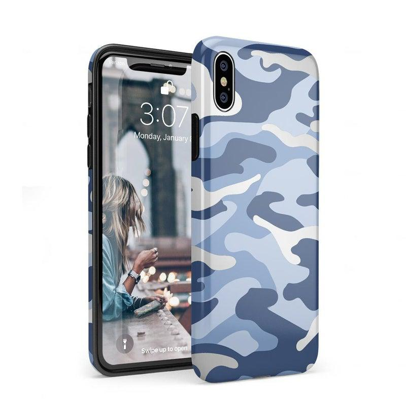 In Formation | Metallic Blue Camo Case iPhone Case Get.Casely Classic iPhone XS Max