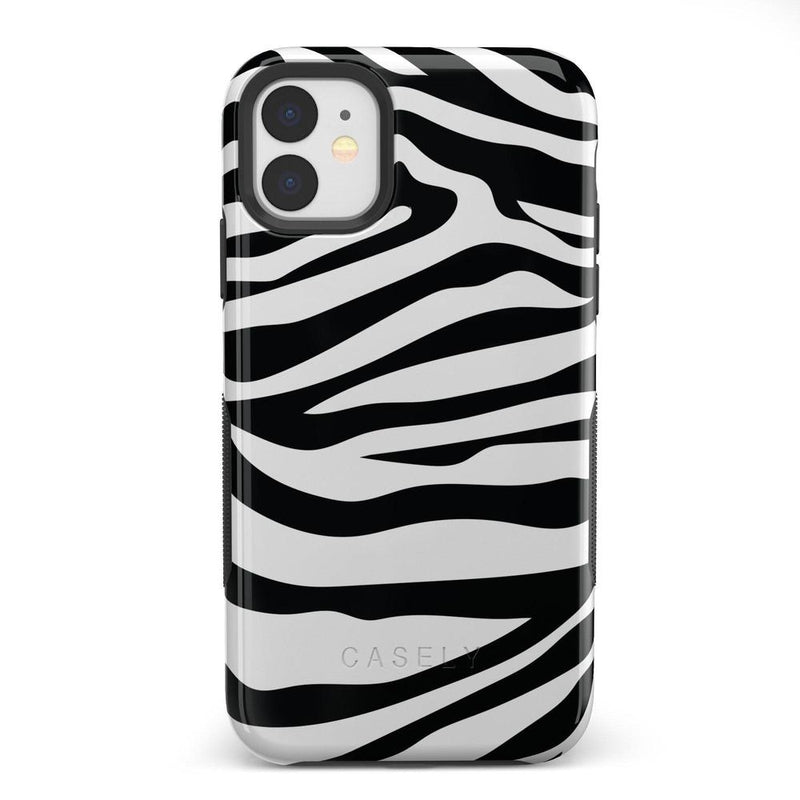 Into the Wild | Zebra Print Case iPhone Case Get.Casely Bold iPhone 11