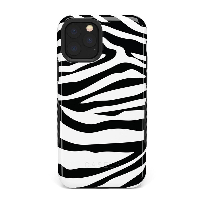 Into the Wild | Zebra Print Case iPhone Case Get.Casely Bold iPhone 11 Pro