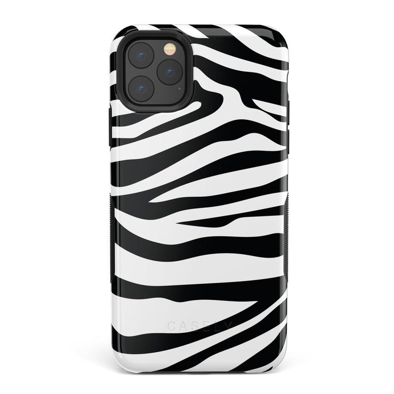 Into the Wild | Zebra Print Case iPhone Case Get.Casely Bold iPhone 11 Pro Max