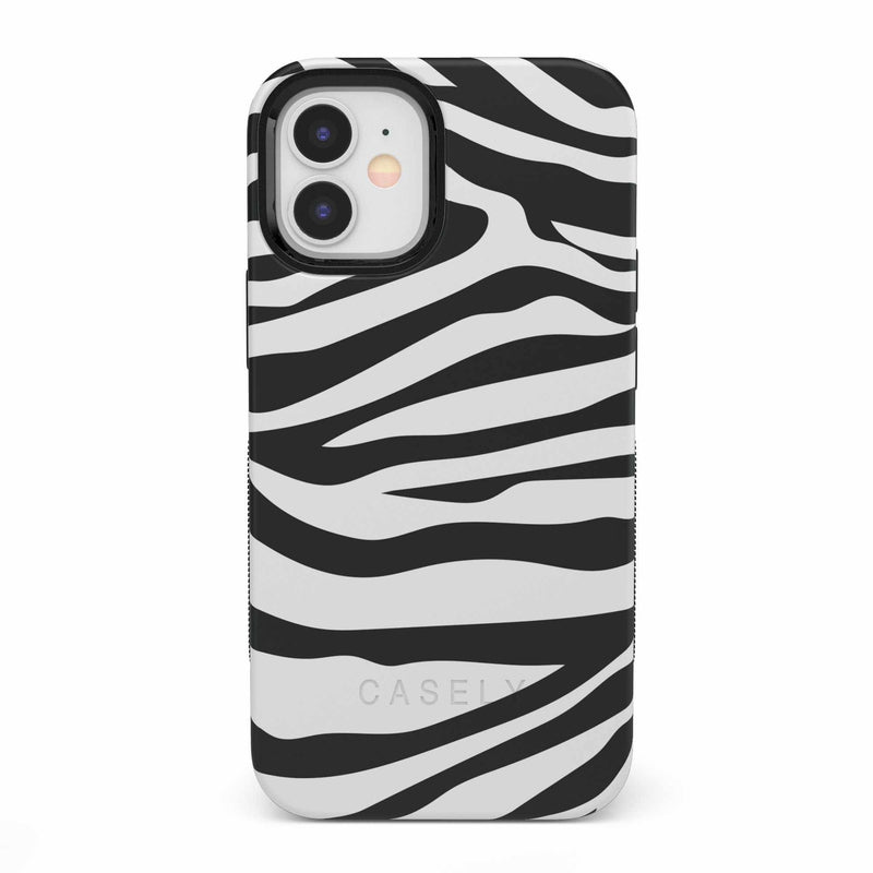 Into the Wild | Zebra Print Case iPhone Case get.casely Bold iPhone 12 Mini